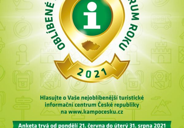 Hlasování v anketě OBLÍBENÉ INFORMAČNÍ CENTRUM 2021